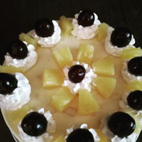 Summer Fruit Cake Bisquit and fresh fruits