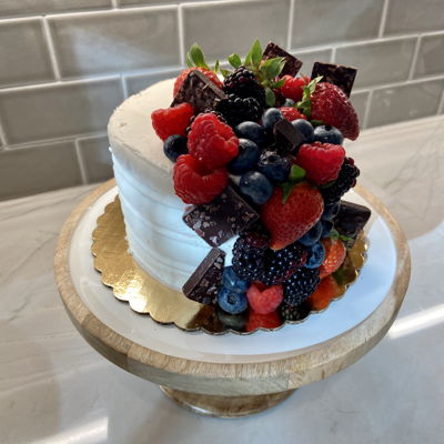 Berry Decorated Cake