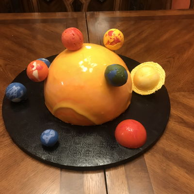Sun And Planets Ice Cream Cake