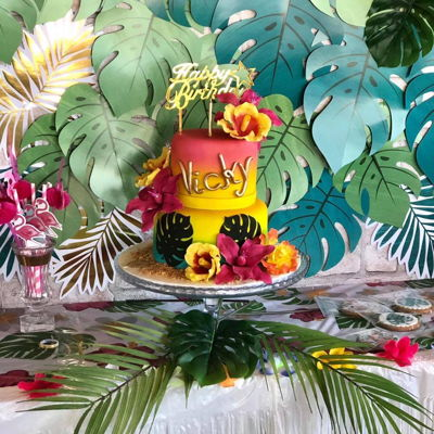 Tropical Cake Hawaiian Birthday Cakes