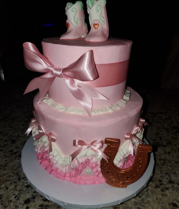 Baby Cowgirl Shower Cake