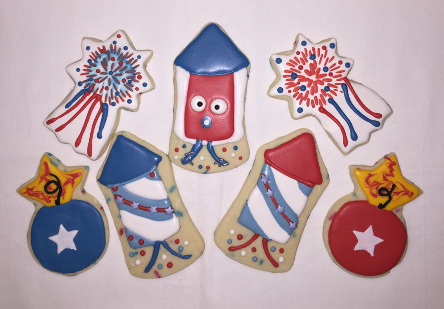 Firework Cookies 2020 on Cake Central