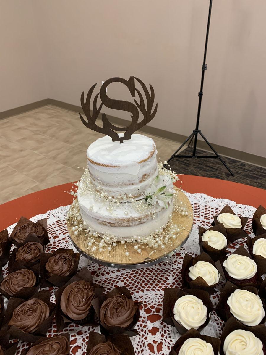 Birch Wood Grain Wedding Cake - CakeCentral.com