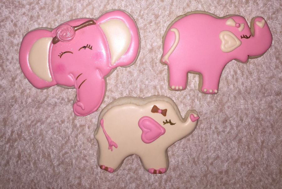 Pink Elephant Cookies on Cake Central