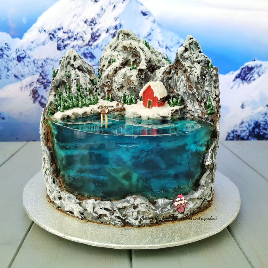 Winter Lake - From The Island Cakes on Cake Central