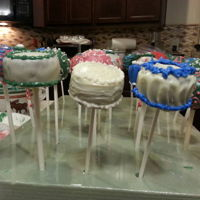 Cake Pops Chocolate and vanilla cake pops shaped as . . . what else? Cake!
