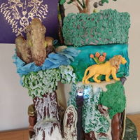 Chronicles Of Narnia Cake White cake (meaning yolkless) covered in vanilla Swiss meringue buttercream and chocolate ganache. Decorations made from either marzipan,...