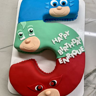 Pj Masks Number Cake