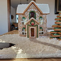 Gingerbread House Two Firsts For Me!I've never made a gingerbread house before! LOL And I've never entered a competition. I took third! Whoo Hoo!...