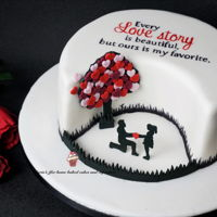 Love Story Cake A quick and easy cake for Valentine's