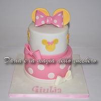 Minnie Cake .. another version of Minnie cake, for little Giulia!Wishes!!