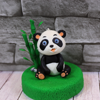 Panda Bear Cake Topper Panda Bears are really cute and I would like to cuddle one so much one day… but in the mean time I just can have fun making them...