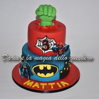 Superheroes Cake Superheroes cake for little Mattia