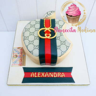 Apple Gucci Fondant Cake