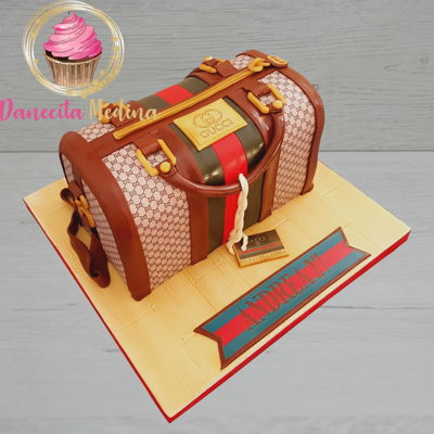 Gucci Bag Fondant Cake