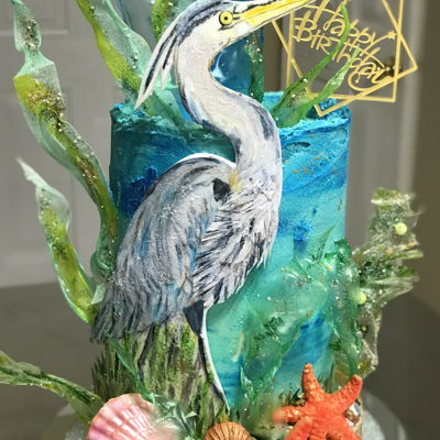 Heron Birthday Cake