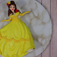 Belle Disney Cake I love Disney Cartoons and making creations with them.They remind me of when I was a little girl
