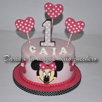 Minnie Cake For the 1st birthday of little Gaia an evergreen..Minnie!Best wishes!