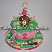 "Masha And The Bear Cake ... ""Bear, shall we rejoice?""Don't you seem to hear that little voice?"