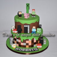 Minecraft Cake ... I see everything square!