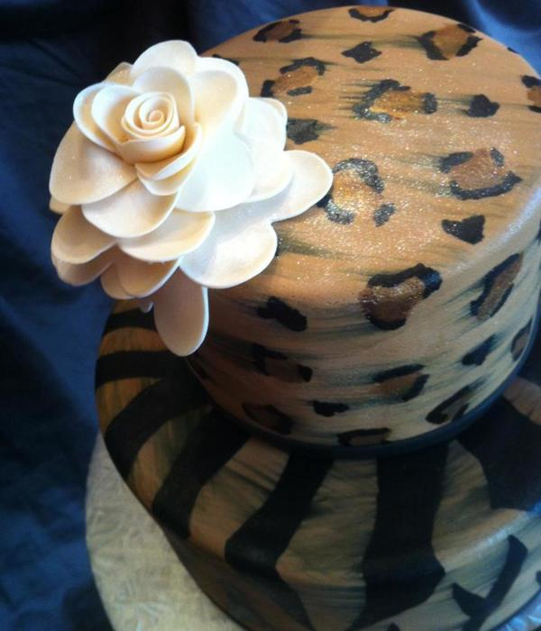 How To Paint Leopard Print on your Cake
